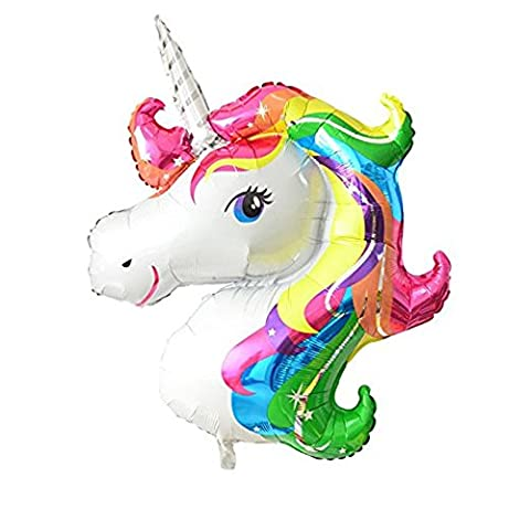 FindFun 33'' Unicorn Foil Balloon Animal Horse Decor for Birthday Baby Shower Party Wdding Child (Religious Gold Crowns)