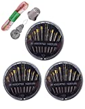 93Pcs Premium Sewing Kit, Portable Sewing Accessories Emergency Sewing Threads Needles Thimble Tape measure Needle Threader for Home Travel