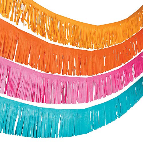 Fun Express Paper Fiesta Fringe Garland - Party Supplies, 39']()