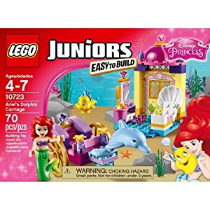 LEGO Juniors Ariel's Dolphin Carriage, 10723 Includes Flounder, Dolphin and an Ariel Mini-Doll