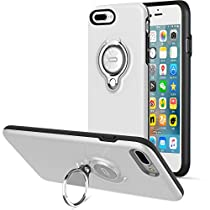 iPhone X Case, iPhone 8 Plus Case, iPhone 7 Plus Case, ICONFLANG 360 Degree Rotating Ring Kickstand Case Shockproof Impact Protection [Support Magnetic Car Mount Case] for iPhone X / 8 P / 7 P (2018)