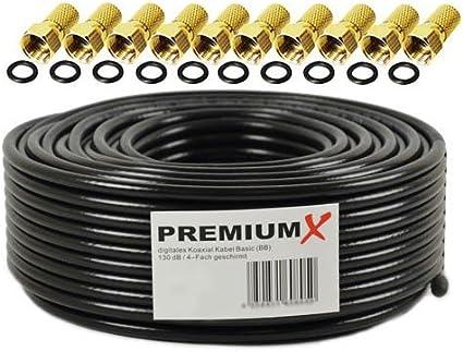 50m Cable coaxial SAT Cable de antena ACERO / COBRE cable coaxial ...