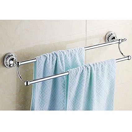 Barra de toalla de baño Organizador de almacenamiento de montaje en la pared para ahorrar espacio,organizar ...