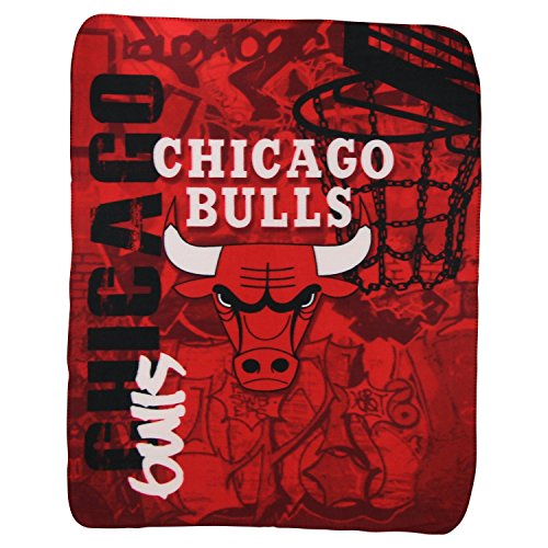 "The Northwest Company NBA Lightweight Fleece Blanket (50"" x 60"") - Chicago Bulls"