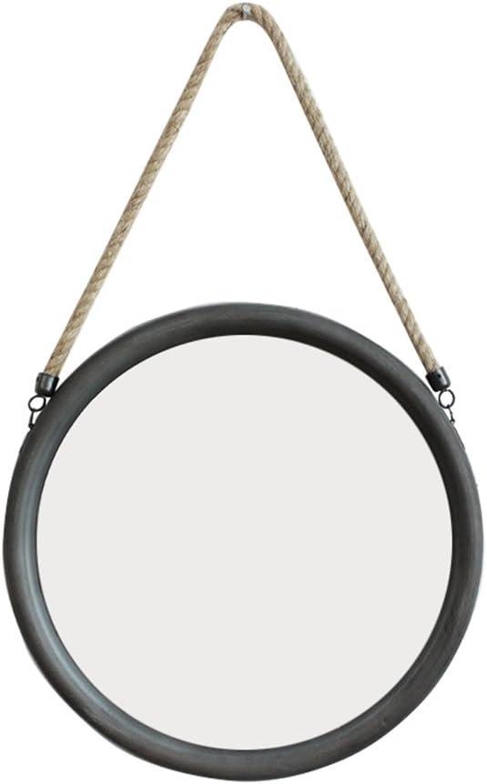 YSDHE Espejo Redondo Twine Mirror/Home Espejo suspendido/Cafe Espejo de Pared 33 * 60cm