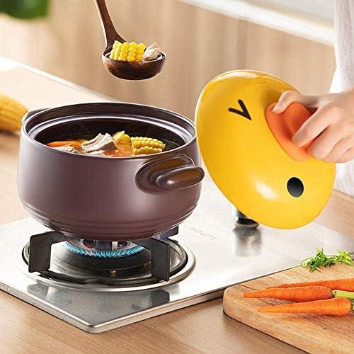 WZF Pots d'argile à ragoût pour la Cuisson des casseroles de Cuisine - Facile à Verser Poignée Pratique.2 5 L