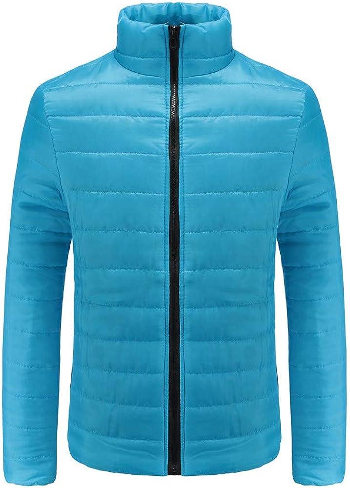 UJUNAOR Fashion Men Cotton Stand Zipper Warm Winter Thick Coat Jacket