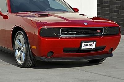 2008-14 Dodge Challenger GTS Smoked Headlight Covers 2PC