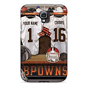 SkNKlnC5395zTVsm Faddish Cleveland Browns Uniform Case Cover For Galaxy S4