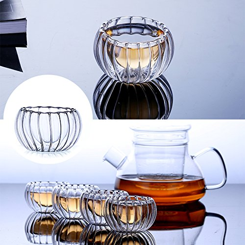 Shenlian Glass Candle Holder Glass Bowl Double-Deck Candlestick for Dining Room Table Centerpiece,Profect Anniversary Celebration Gift