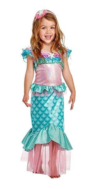 Amazon.com: Disfraz de sirena para niño (azul/rosa): Clothing