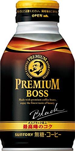 [일본 산토리 보스 캔커피 / SUNTORY BOSS COFFEE] 산토리 커피 프리미엄 보스 블랙 285g보틀관×24개