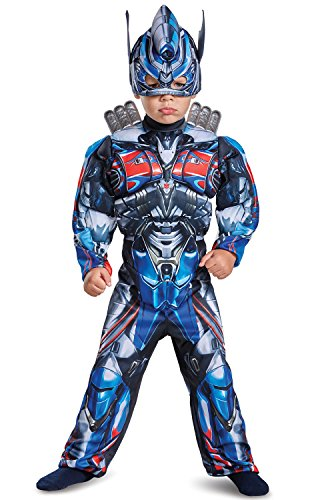 Disguise Optimus Prime Movie Toddler Muscle Costume, Blue, Medium (3T-4T)