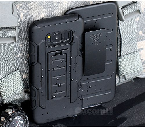 Cocomii Robot Armor Galaxy S8 Case New [Heavy Duty] Premium Belt Clip Holster Kickstand Shockproof Hard Bumper [Military Defender] Full Body Dual Layer Rugged Cover for Samsung Galaxy S8 (R.Black)