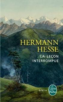 La leçon interrompue par Hesse