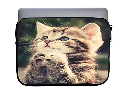 (Protective Vinyl Sweet Cuddly Pussy Sticker NOT a Vape 13x10 inch Neoprene Zippered Laptop Sleeve Bag by Smarter Designs for MacBook or Any Other)