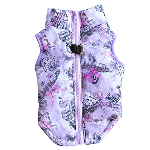 Hot Sale!!Pet Supplies Clothes,Cat Dog Coat Jacket Apparel Puppy Costume (XS, Purple)