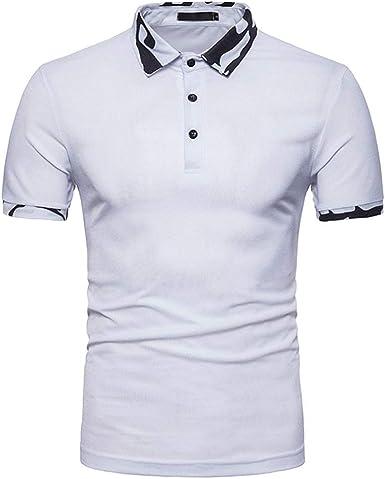 Camisa Polo De Los Hombres Camuflaje De Manga Corta Camiseta Casual: Amazon.es: Ropa y accesorios