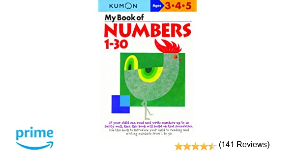 Amazon.com: My Book Of Numbers 1-30 (Kumon Workbooks ...
