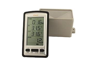 MISOL 1 pcs of inalámbrica pluviómetro medidor de Lluvia W ...