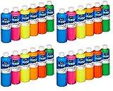 Sax Versatemp Heavy-Body Tempera Paints, Assorted Fluorescent Colors, (Pack of 4)
