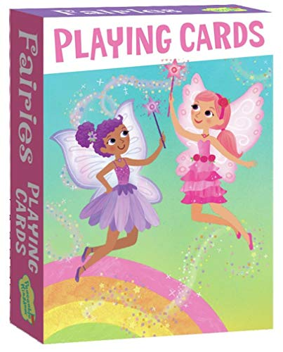 Peaceable Kingdom Fluttering Fairies Playing Card Deck of 52 Cards plus 2 Jokers with Box