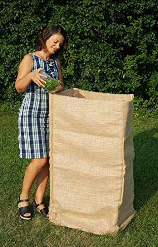 All-Natural Compost Bin Made of Burlap Fabric, Medium Size, Easy to Install. From Compost Canvas