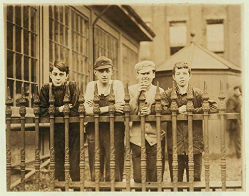 1910 Photo Pack boys in Pacific Mill, George Driscoll, 14