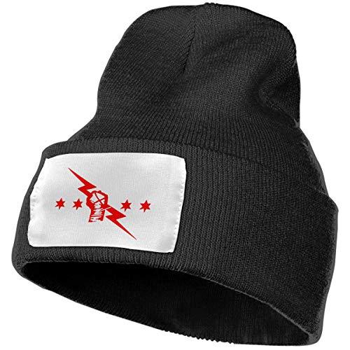 Knit Hat, cm Punk Best in The World Logo Beanie Winter Hats for Men Women Black (Best Beanie In The World)
