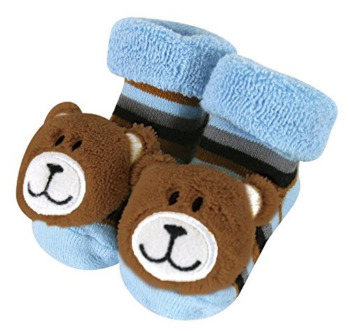 Stephan Baby Rattle Socks, Blue Bears, Fits 3-12 Months