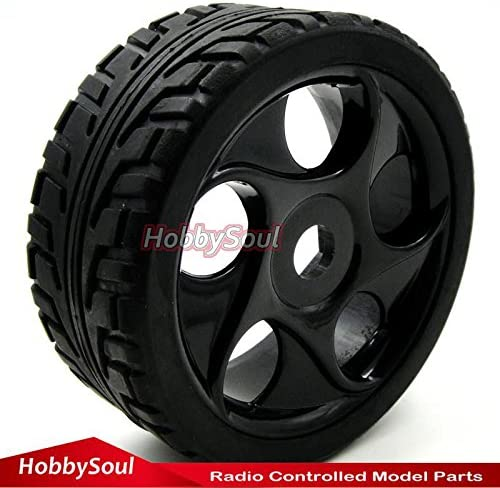4pcs NEW 1//8 RC Soft Tires Tyres w// Hex 17mm Wheels Rims For RC HPI On-Road Car