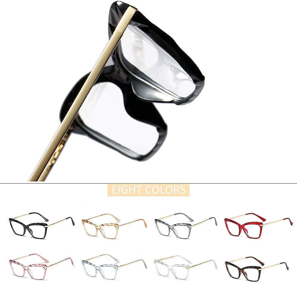 Vintage Classico Moda Occhio di Gatto Crystal Montatura Retr/ò Trasparente Nero Lenti Trasparenti Non Graduati Occhiali per Donna LONMEI Donna Occhiali