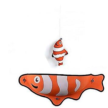 TRELLA – Hamaca para Gatos, con Ventosa, Forma de pez, Gato, Ventana