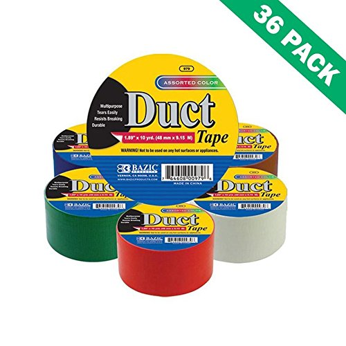 Multi Colored Duct Tape, Multi-use Bazic 1.88 In. X 10 Yds.