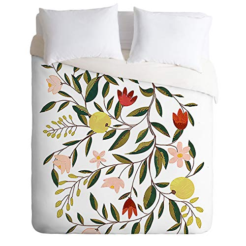 Society6 83 Oranges Lovely and Fine Comforter Set with Pillowcase(s), King, Green