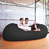 Jaxx 7 ft Giant Bean Bag Sofa, Black