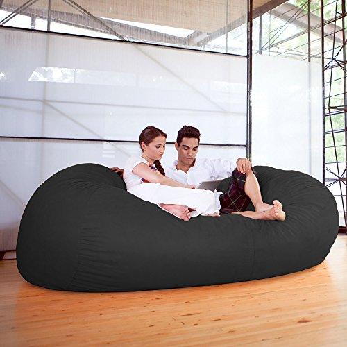 Superieur Jaxx 7 Ft Giant Bean Bag Sofa, Black By Jaxx