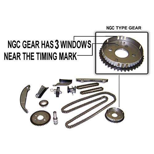 2004 Dodge Charger Parts - DNJ TK140B Timing Chain Kit for 2002-2007 / Chrysler, Dodge / 300, Charger, Concorde, Intrepid, Magnum, Sebring, Stratus / 2.7L V6 DOHC 24V / 167cid