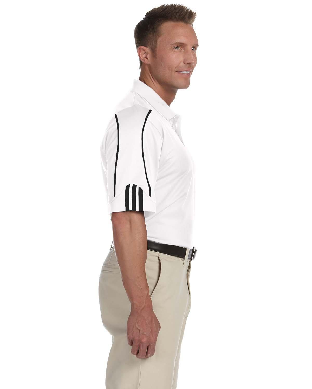 Adidas Men's 3-Stripes Contrast Piping Polo Shirt, White/Black, Small