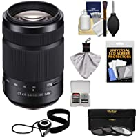 Sony Alpha 55-300mm f/4.5-5.6 DT SAM Zoom Lens with 3 UV/CPL/ND8 Filters + Kit for A37, A58, A65, A68, A77 II, A99 Cameras