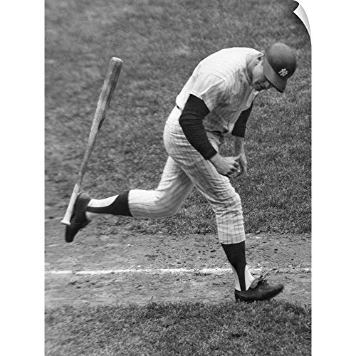 CANVAS ON DEMAND Mickey Mantle of The New York Yankees Wall Peel Art Print, 18