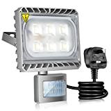 Gosun 30W LED Motion Sensor Flood Light Daylight White, Outdoor LED Floodlights, 2700lm Waterproof IP65, 250W Halogen Lights Equivalent, LED PIR Se