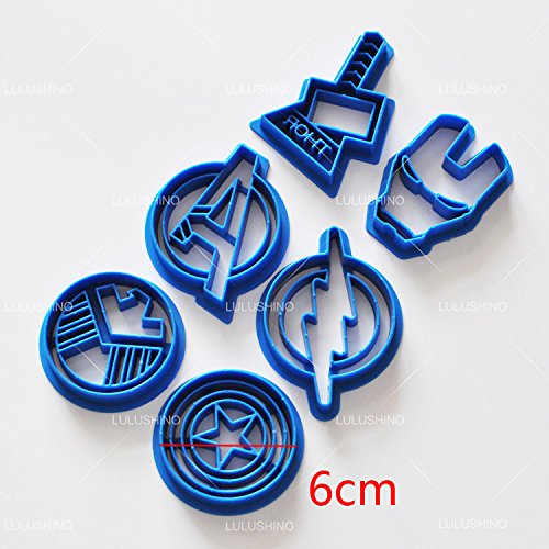 New! Hot style Super hero series The avengers alliance sugar cookie cutter mold 6 (Halloween Sugar Cookies Fingers)