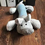 Pipigou Four-Legged Strip pet Toy pet Plush Vocal Toy Dog   molars Vocal Toy Hair Striped Pig and Duck Elephant, Elephant