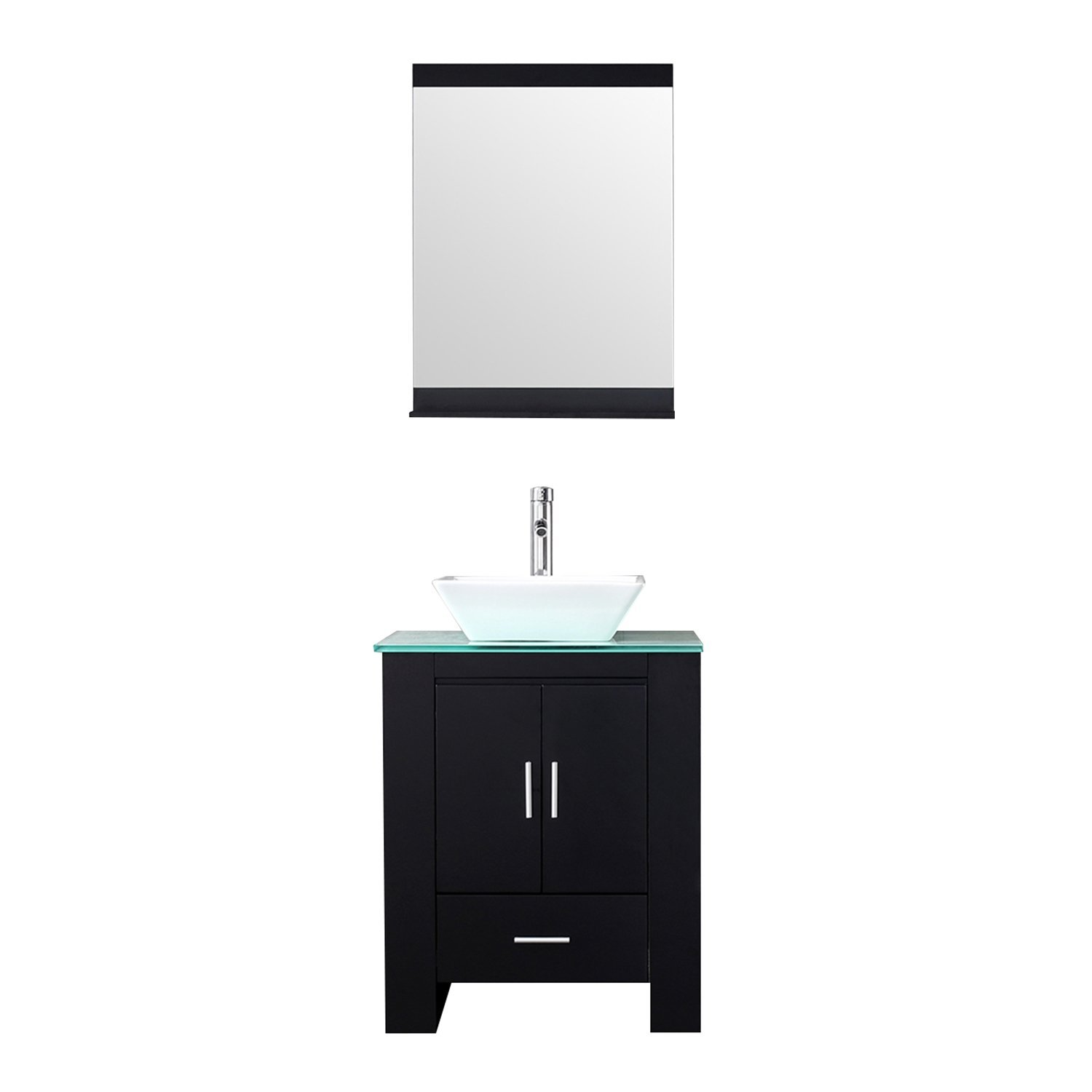 Sliverylake 24 Modern Bathroom Vanity Cabinet Ceramic Vessel Sink