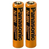 #8: Panasonic HHR-75AAA/B-4 Ni-MH Rechargeable Battery for Cordless Phones, 700 mAh (Pack of 2)