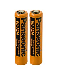 2 unidades, Panasonic NiMH baterías AAA recargables para teléfonos inalámbricos.