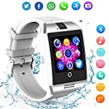 Smart Watch for Android Phones - Bluetooth Watch Cell Phone with Audio and Image and Camera - SIM Card Slot Smartwatch Touchscreen for Men Women (White)