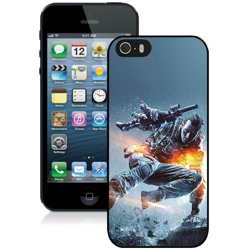 Coque,Fashion Coque iphone 5S Battlefield 4 Jump Game Noir Screen Cover Case Cover Fashion and Hot Sale Design