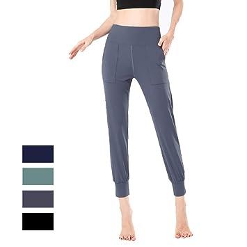 ZQQ 3/4 Mujer Leggins Pantalones Deportivos Bolsillos para ...